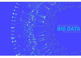 大数据环形灰度可视化信息审美设计视觉_10050367