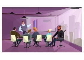商界人士讨论公司财务插图_3296481