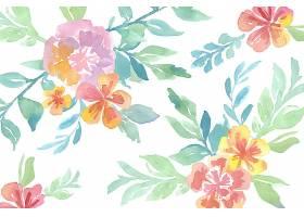 图案背景天衣无缝的水彩画精美花卉_5917745