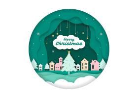 圣诞背景剪纸_5908482