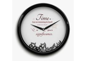 原来设计的挂钟白色背景上隔离了时间停止_3792141
