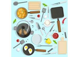 厨师工作场所俯视集_3797671