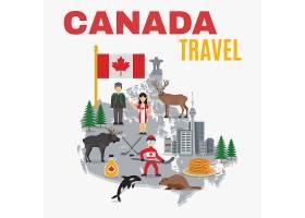 加拿大地图装饰画海报_4266143