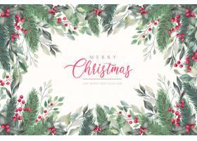 优雅的圣诞背景与冬日自然_5948003