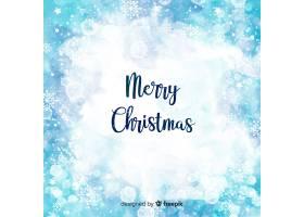 优雅的水彩画圣诞背景_3344905