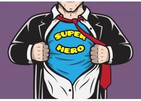 伪装隐藏漫画书超级英雄商人撕开衬衫概念矢_1158234