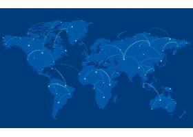全球连接蓝色背景插图矢量_3439368