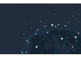 全球连接蓝色背景插图矢量_3771156