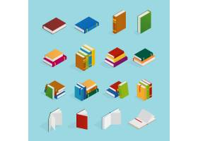 书籍等轴测图标集_4328726