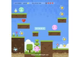 五颜六色的电子游戏背景_948910