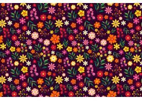五颜六色的花卉印花背景_6610869