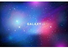 五颜六色的银河系背景星光闪耀_4774112