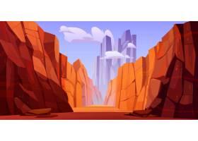 亚利桑那州公园底部有路的大峡谷_9292873