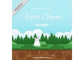 一只兔子的电子游戏背景_948159