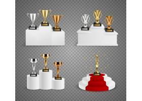 一套奖杯包括基座上的杯子和小雕像_4331203