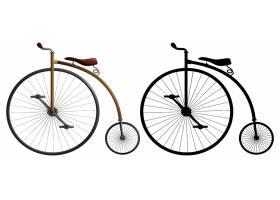 一辆高轮子自行车_3919430