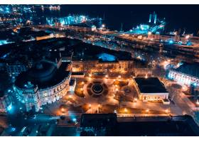 敖德萨歌剧院的夜景_6136018