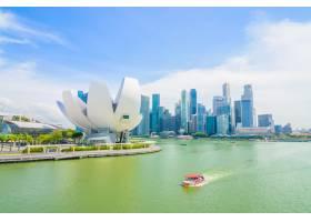 新加坡2015年7月16日滨海湾景色滨海湾_1115356