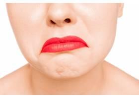 性感的暗红色嘴唇特写美丽的嘴唇化妆_10249904