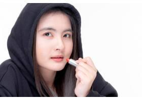 美丽的亚洲年轻女子肖像美容博主在网上出售_11993719