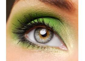 明亮绿色的女性眼睛_10232292