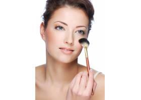 可爱的年轻成年女子化妆后洗脸写真_10626099