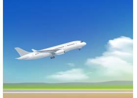 飞机起飞海报_3796057