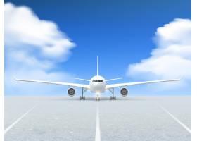 飞机跑道海报_3796058
