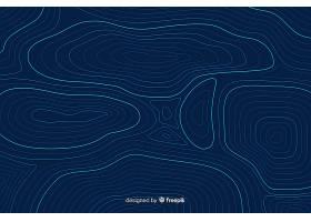 蓝色背景上的圆形地形线_5323423
