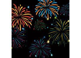 背景上的Fireworks模板_6555626