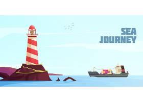 航海卡通背景_6477867