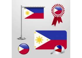 菲律宾国旗带有创意设计矢量_3210672