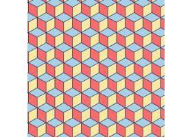 粉色蓝色和黄色方块组成的可编辑无缝图案_10221035