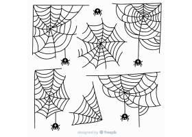 白底手绘蜘蛛网收藏集_5610515