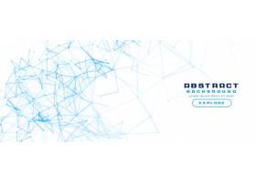 白色横幅背景带有抽象的网络网状图_6286509