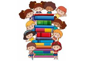 白色背景上有孩子的书_3528728
