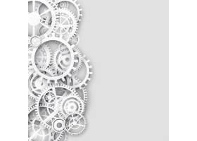 白色背景带有齿轮和文本空间_4843053
