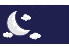 漫画式月亮星云背景设计_10016755