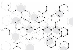 白色背景抽象六边形_6191596