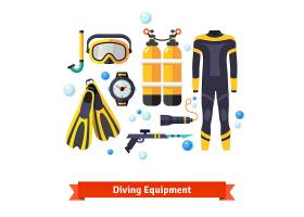 潜水设备图标集_1311133
