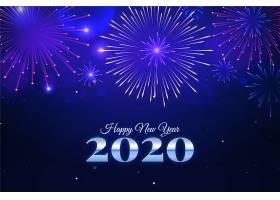 烟花爆竹2020年新年背景_6071660