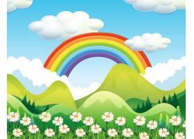 森林和彩虹的景色_2439884