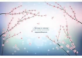 樱花背景与闪亮的形状_1062062