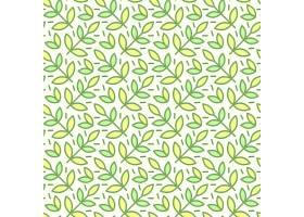 无缝图案背景以手绘可爱的昆虫花朵树_3330591