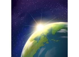日出地球空间景观写实海报_3796063