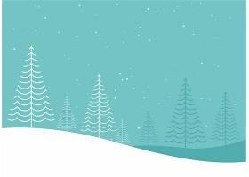 最低限度创意冬日圣诞树窗帘设计_3552324