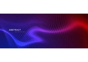 抽象彩色颗粒横幅设计_3009993