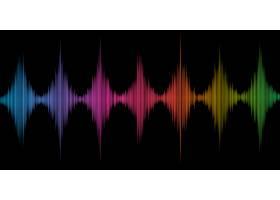 抽象背景色彩斑斓的声波设计_10135252