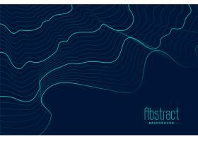 抽象蓝色背景带绿松石轮廓线_5548484