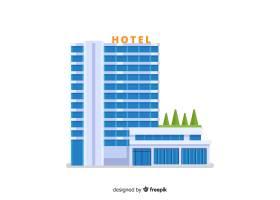 扁平酒店建筑插图_4370465